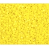 2-Cut Bead Opaque Lemon Yellow 10/0